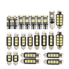 23pcs Car LED Interior Light Bulb T10 Double Point Lamp Auto Dome Map Cool White