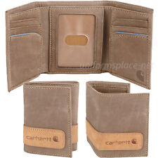 Carhartt Trifold Wallet Men's Trifold Two Tone Genuine Leather Light Brown