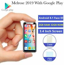2019 Smallest 3.4 Inch 4G LTE Smartphone Melrose Android 8.1 Google Play 2GB+32B