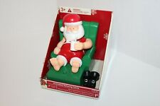 """NEW Gemmy 2011 Animated Relaxing Santa music 7"""" tall Christmas moving figure"""