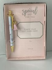 Gift Card Holder with Pen Gold Marble Design Pink Tassel Gartner Studios Wedding