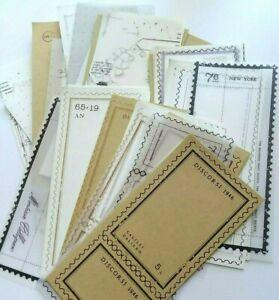 Mixed Lot of 60 Vintage Memo Paper Sheets Stationary Stamp Border Junk Journal
