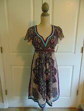NWT Nicole Miller Sheer-Silk Dress~ size 4