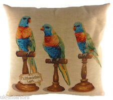 "18"" Tropical Birds Lorikeet Belgian Tapestry Cushion Evans Lichfield LC685 Bird"
