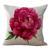 Vintage Blumen / Blumenflachs Dekorative Kissenhuelle Kissenbezug Haus Sofa D 2I