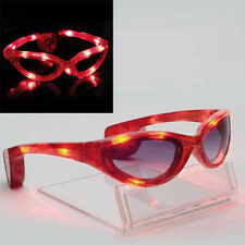 4 Choice LED Rave Goggle Flashing Party Shade Glasses Sunglasses Xmas Fun Supply