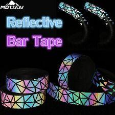Bicycle Handlebar Tape Light Reflective Bike Bar Tape Road Bike 3MM Wrap Leather