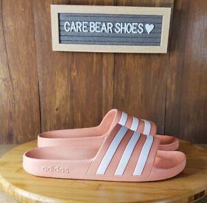 Adidas Women's Adilette Aqua Slipper  Salmon Coral Shoes Slide SIZE 9 G28714