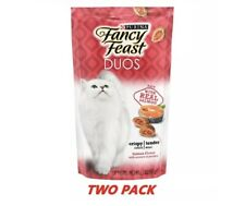 Purina Fancy Feast Duos Cat Treats Salmon Flavor 2.1 Oz TWO PACK