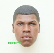 AUTHENTIC HOT TOYS STAR WARS EP VII FORCE AWAKENS FINN 1/6 JOHN BOYEGA HEAD NEW