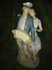 "Lladro Sailor Serenades His Girl Porcelain Figurine 12.5"" Retired 1987"