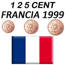 1 + 2 + 5 CENT 1999 FRANCIA FRANKREICH FRANCE FRANÇA - FDC UNC DA ROTOLINO