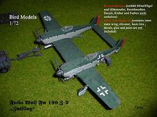 Focke Wulf Fw 190 Z-2 Zwilling    1/72 Bird Models Mischbausatz/ mixed kit