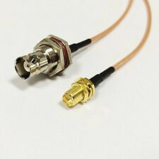 BNC female bulkhead to RP SMA female male pin Pigtail Jumper cable RG316 6inch