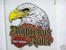 HARLEY DAVIDSON MOTORCYCLES BAR & SHIELD EAGLE In Windshield Glass DECAL STICKER