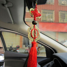 Feng Shui Chinese Knot Tassel China Mascot Lucky Coin Car Home Decoration