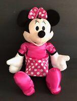 "Walgreens Minnie Mouse Plush 13"" Tall Pink White Polka Dot Dress Stuffed KCare"