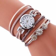 Fashion Ladies Women's Casual Bracelet Diamond Circle Quartz Analog Wrist Watch