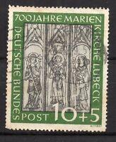 Germany : 1951 10+5 Pfennig ( 700 th. Anniv. Lübeck Marie Church ( used )