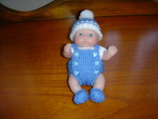 Hand Knitted Dolls clothes for 5 in (environ 12.70 cm) Berenguer, ange set ~ NOUVEAU