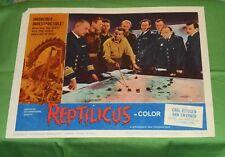 original REPTILICUS lobby card #3 Carl Ottosen Ann Smyrner