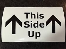 "4"" This Side Up Vinyl Decal Sticker Jeep Chevy Ford 4x4 Offroad LOTS OF COLORS"