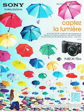Publicité Advertising 108  2012   appareil photo Sony Nex-5r