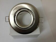 faretto  incasso acciaio satinato tondo regolabile completo di portalampada gu10
