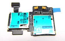 Samsung Galaxy S4 i9500 i9505 Sim Karte Leser Speicherkarte Reader Flex Kabel