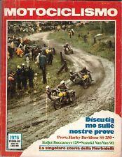 2 1976 - MOTOCICLISMO - HARLEY DAVIDSON SS 250 - ITALJET BUCCANEER 125 - SUZUKI