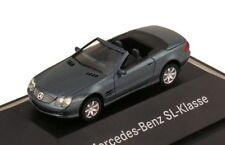 car 1/87 HERPA B66961320 MERCEDES BENZ SL 500 R230 2001 MET BLUE -ver/see-