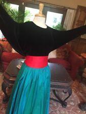 46f563961c9c5 Blue Green Black Tea Length 12 Holiday Party Hostess Silk Dress Vintage  Formal