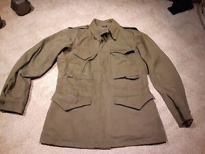 Vintage WW2 US ARMY M-1943 Field Jacket  34R Good Condition