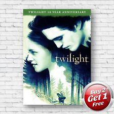 Twilight 2008 Film Movie Poster A4, A3, A3+ Borderless Art Print