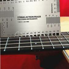 Precision String Action Gauge Ruler Stainless Luthier Guitar Bass Fork Measuring