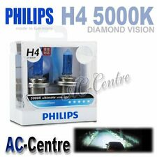 GENUINE PHILIPS DIAMOND 5000K H4 12V 60/55W HALOGEN WHITE HEAD LIGHT LAMP BULBS