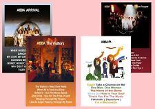 More details for abba  the album posters  visitors  super trouper  arrival  a5 a4 a3