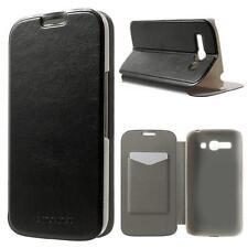 Schutz Tasche Hülle Flip Cover Case Etui f Alcatel One Touch Pop C9 SCHWARZ 19A