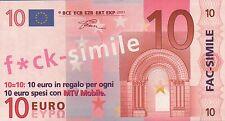 BANCONOTA FAC-SIMILE PUBBLICITARIA MTV MOBILE - 10 EURO 32-32