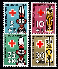 Dutch New Guinea - 1958 Red Cross - Mi. 49-52  MH