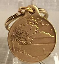 Serenity Lake & Prayer Key Chain Bronze Keychain Fob Tag Alcoholics Anonymous AA
