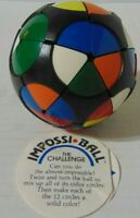 Vintage 1982 Rubiks Impossiball Puzzle Ball The Challenge-- Free Shipping!