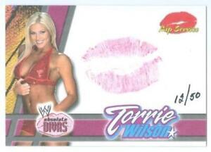 """TORRIE WILSON """"KISS CARD /50"""" FLEER WWE ABSOLUTE DIVAS"""