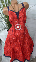 Joe Browns ROBE TAILLE 46 - 54 Rouge à motif (076) NEUF