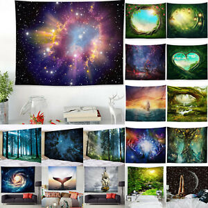 Tapestry Nature Star Wall Hanging Blanket Throw Cover For Living Room Home Decor