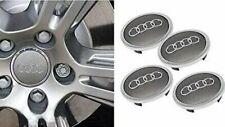 Audi 4x 69mm Alloy Wheel Center Caps Silver 4B0601170A