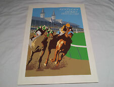 1984 Kentucky Derby Horse Racing Oren Sherman Signed Lithograph Print Poster