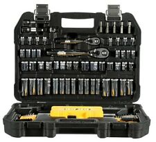 DEWALT 108 Piece Mechanics Tool Set DWMT73801 —Sockets 1/4 Inch & 3/8 Inch+Case