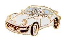 Porsche 911 Carrera White Pin Badge