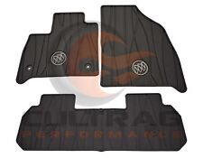 2018 2019 Buick Enclave Genuine GM Front & 2nd Row All Weather Floor Mats Black